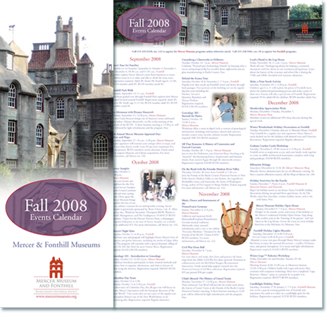 Mercer Museum Fall Events Calendar