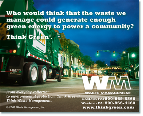 Waste Management print ad